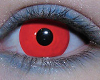 lentilles de couleurs rouge