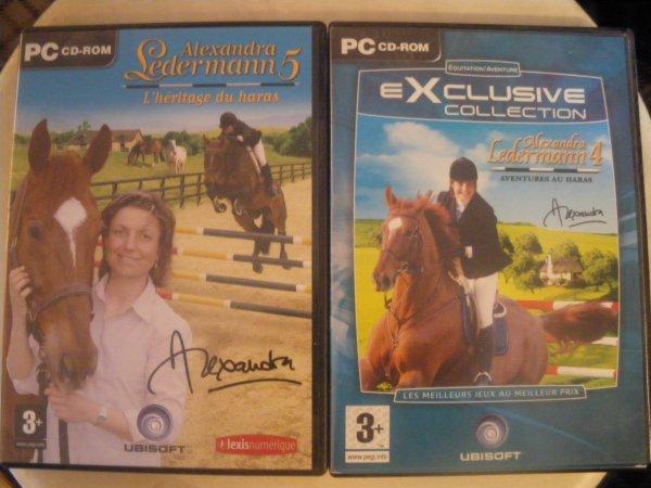 jeux pc alexandra ledermann 4 et 5
