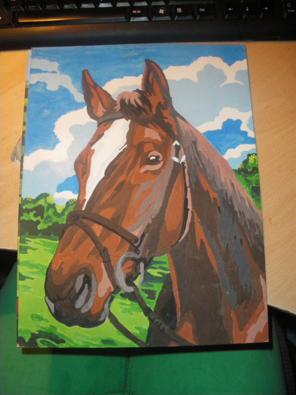 tableau fait main cheval