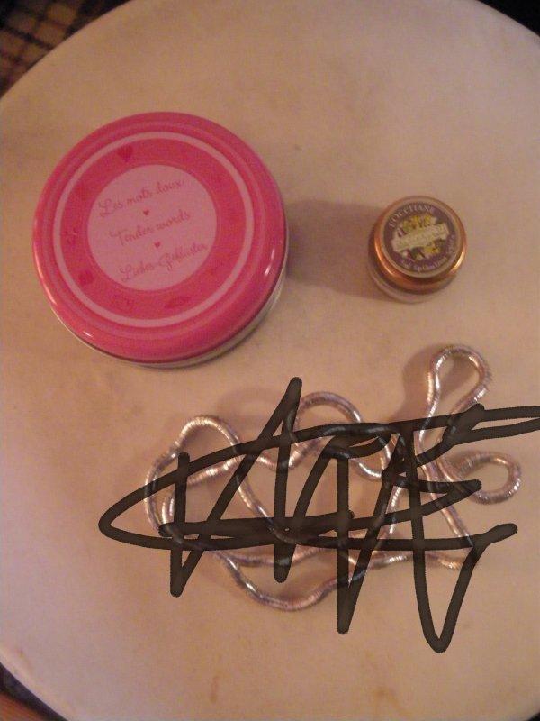 boite mots doux + gloss vanille neuf