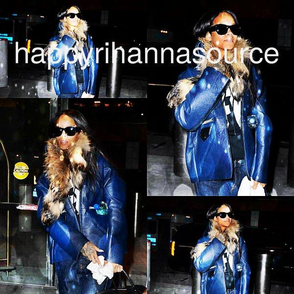 31/01/14 Rihanna a été aperçue à l'aéroport « JFK »