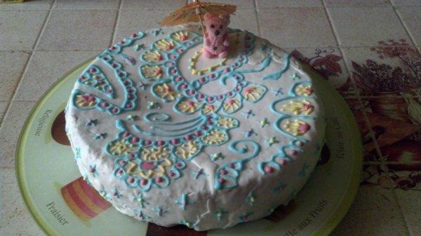 gâteau ours et glaçage