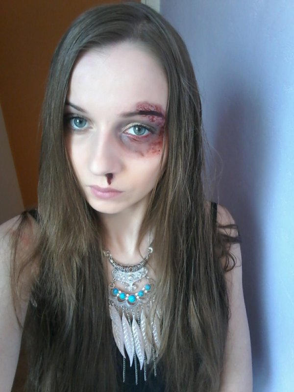 violences conjugales , un combat ! ( maquillage artistique )