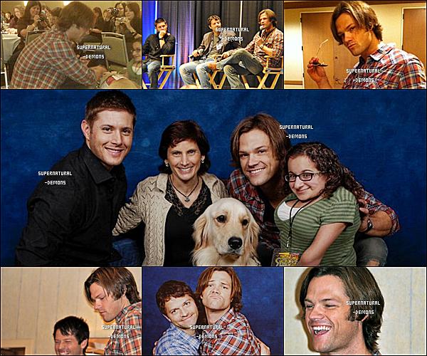 . FASHBACK___10 et 11/10/10 : Jared et Jensen étaient présent à une convention qui avait eu lieu à CHICAGO. Et les acteurs de SUPERNATURAL ont poser avec leurs fans.  .