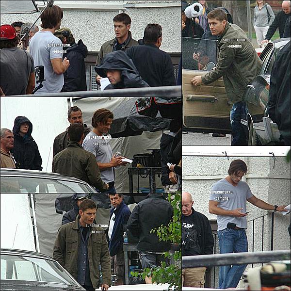 . FLASHBACK____25/08/10 : Sammy et Deano étaient sur le tournage de SUPERNATURAL saison 5. .