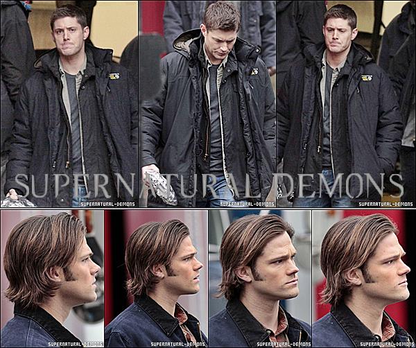 .  13/01/11 : Jensen et Jared étaient sur le plateau de tournage de SUPERNATURAL pour tourner quelques scènes inédites de la saison 6 le jeudi à Vancouver en Colombie-Britannique au Canada. .