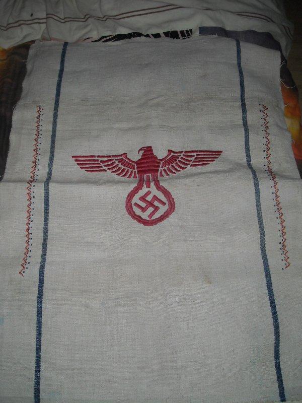 Sac de farine allemand brodé WW2