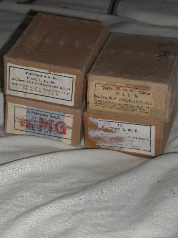 4 boites pour cartouches mauser WW2