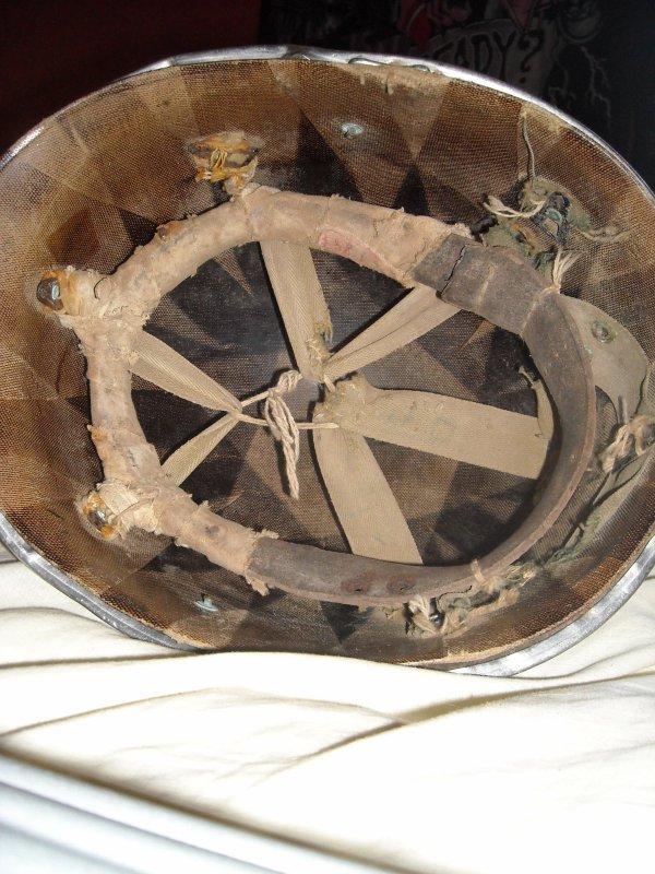 Casque US WW2 pate fixe avec son liner