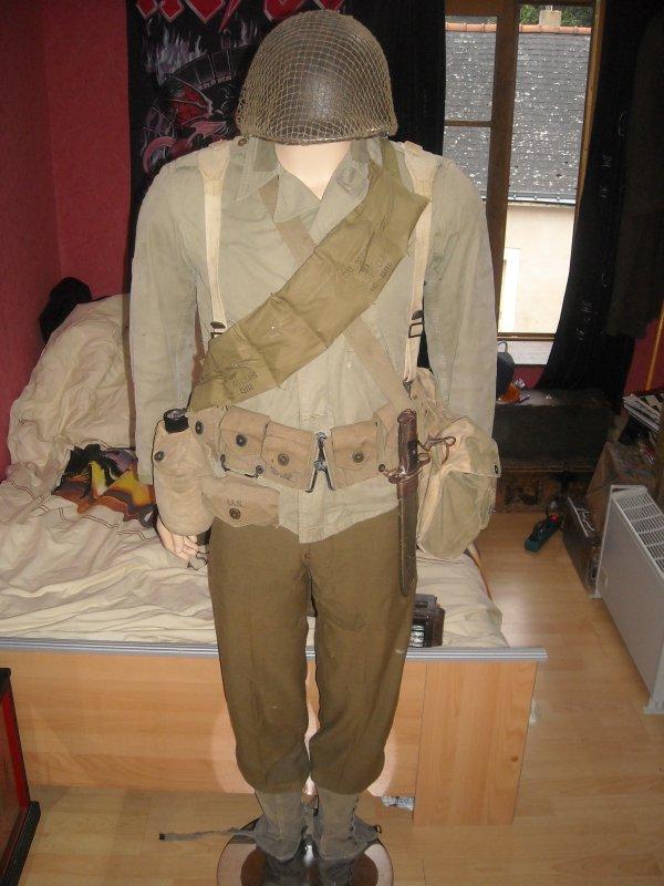 Mon mannequin US WW2 tout originale il manque ensore pas mal de truc
