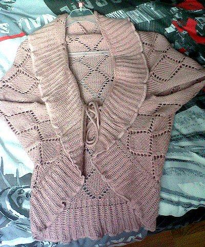 Gilet rose en laine taille L