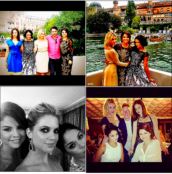 .Voici des photos -datant du festival de Venise et de celui de Toronto-, que miss Hudgens a posté sur facebook et sur son site perso  AINSI QUE des photos postées par ses co-stars.