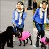 .Vanessa qui promène des chiens dans New York le 12 décembre 2012