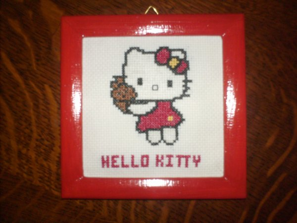 Broderie Hello Kitty.