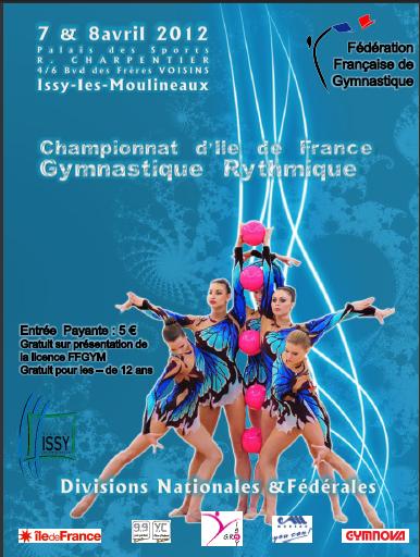 Championnats d'Ile de France de GR les 7 et 8 avril 2012 à Issy les Moulineaux