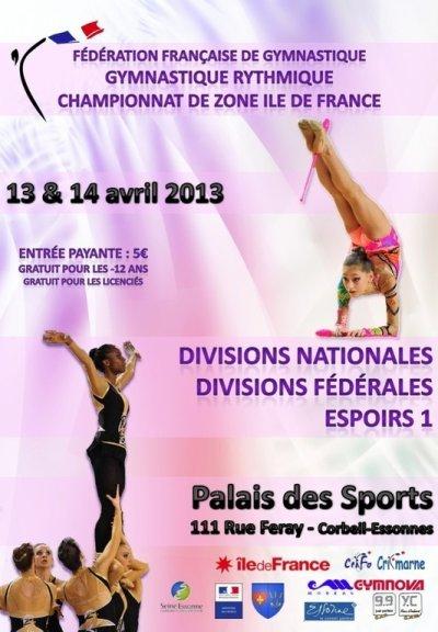 Compétition Zone IDF Ensembles les 13 & 14 avril 2013 à Corbeil Essonnes