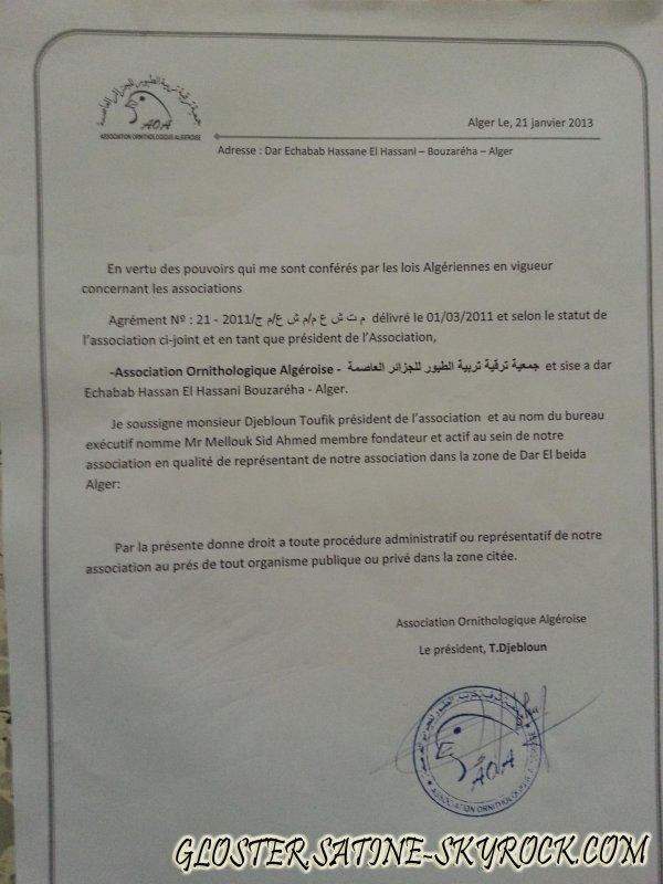 PREMIER CLUB ORNITHOLOGIQUE ALGERIEN C.O.D.B