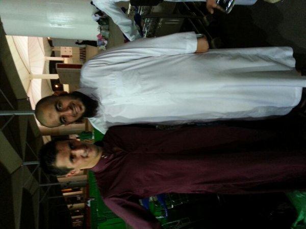 avec Rafik Saifi a l'aeroport de djedah