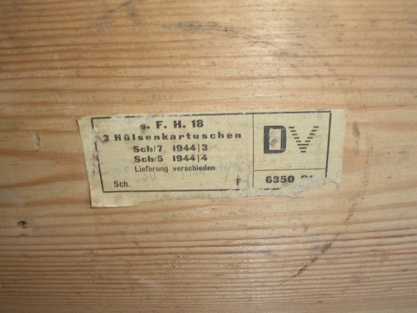 Caisse en bois pour 3 douilles de 15 cm s.Fh.18