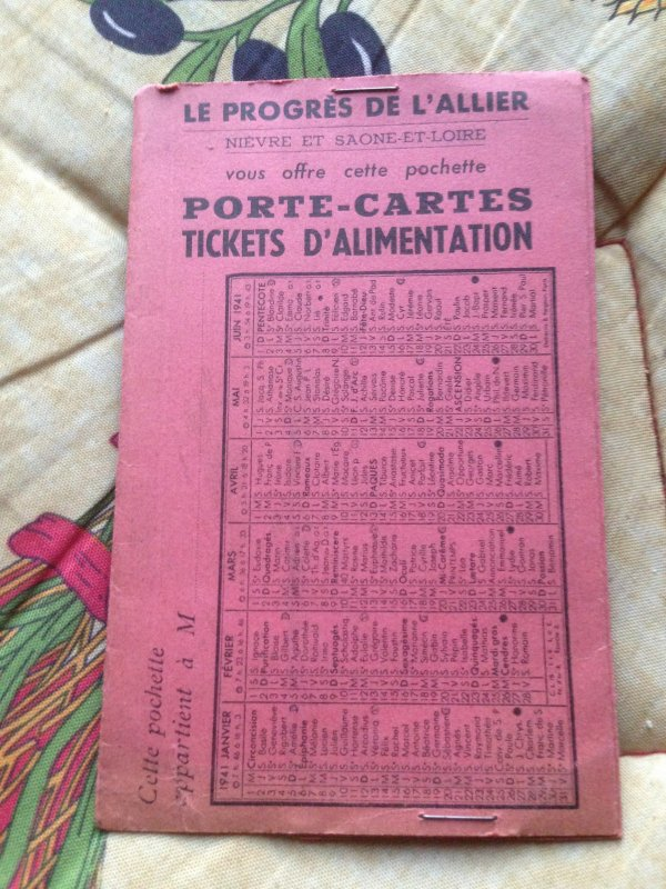 Tickets et cartes de rationnement (1941-1949)