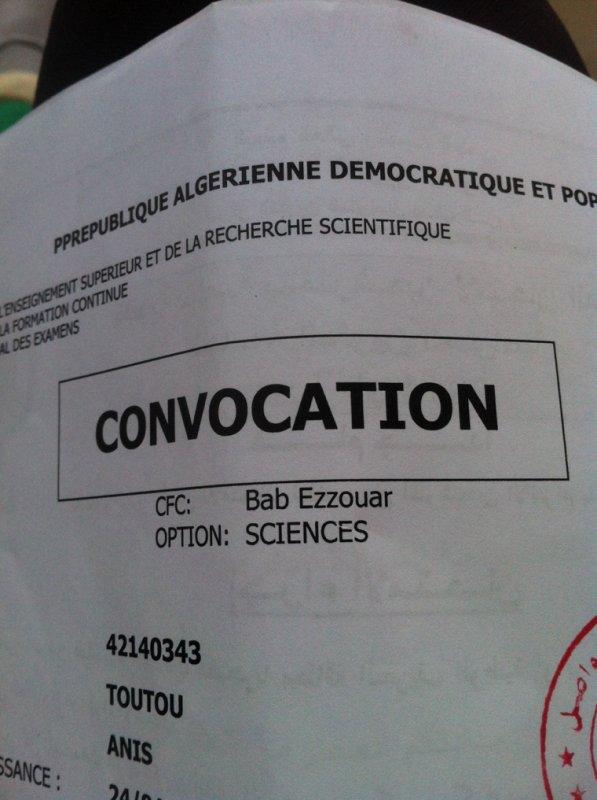 Ma Convocation Du Bac