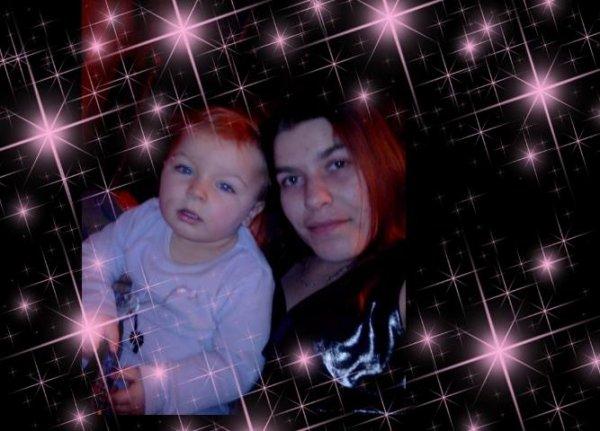 mwa et ma fille mon petit ange 💕 jtm 💜