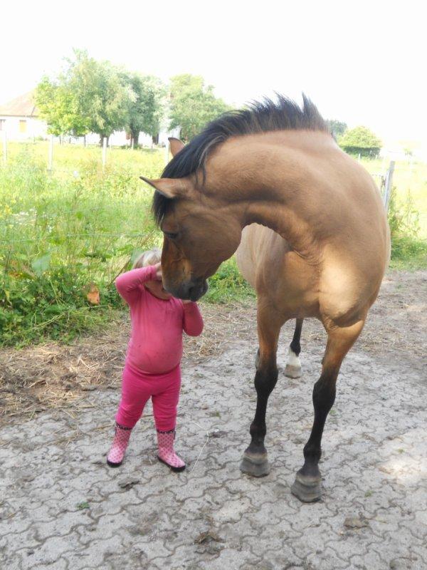 ma fille avec ma jument milady