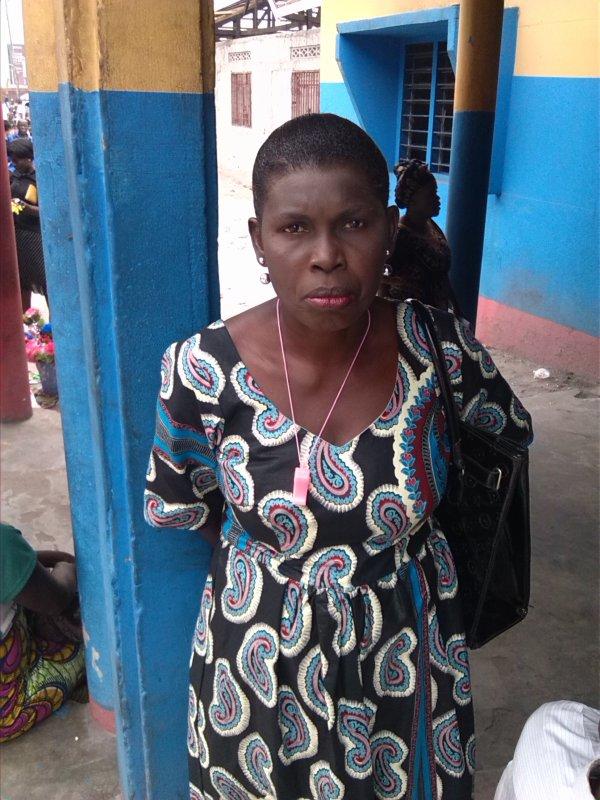 Maman Augustine Nsakala dans la Commune de Masina