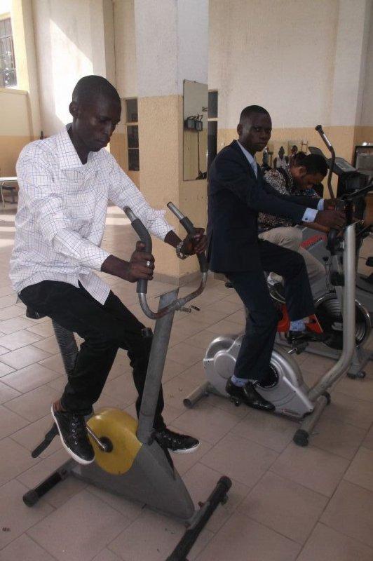 Salle de Musculation à l'Institut de la Gombe