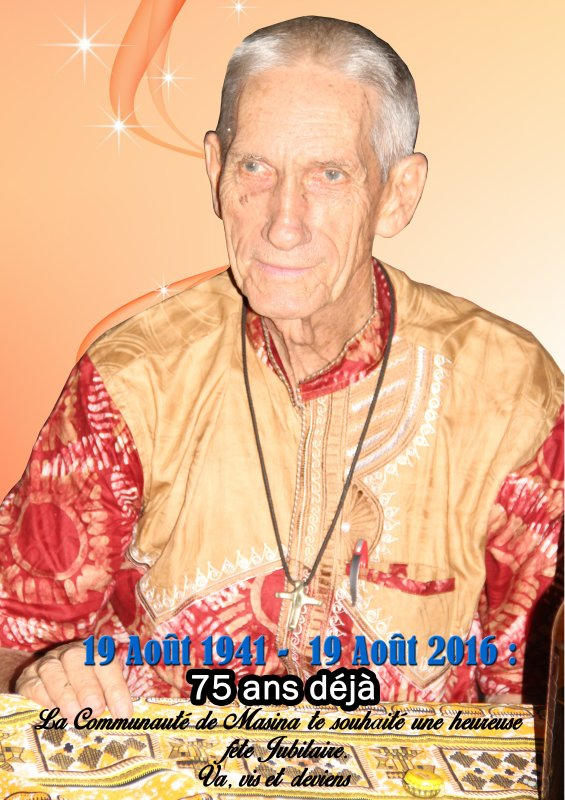 75 ans d'âge Père Pol Feyen Salésien de Don Bosco sdb