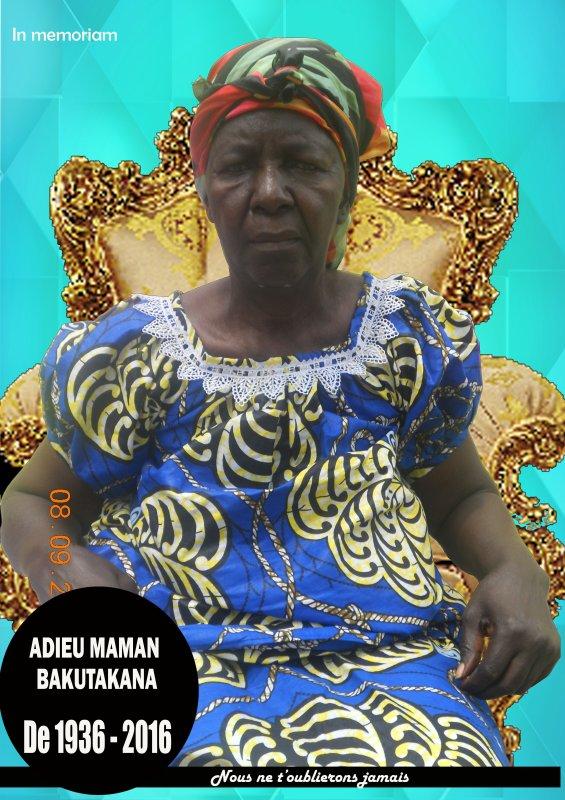 Discours d'hommage pour l'enterrement de ma grand Mère BAKUTAKANA Renée