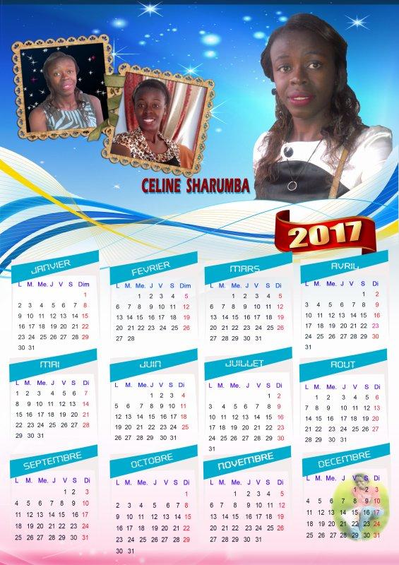REALISATION CALENDRIER 2017  CELINE SHARUMBA