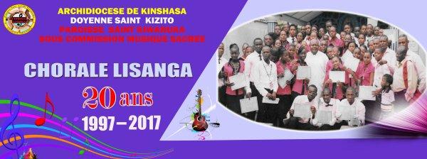 BANDEROLE DE LA CHORALE LISANGA DE LA PAROISSE SAINT  KIWANUKA  DE KINGABWA