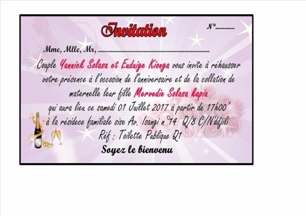 MAQUETTE  INVITATION