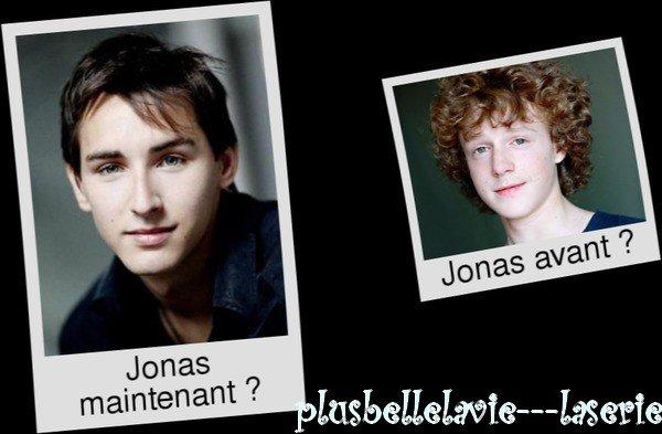 Jonas maintenant VS Jonas avant