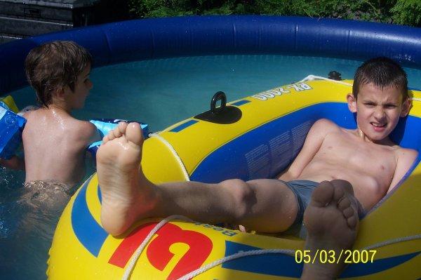 Moi ds la piscine mdr