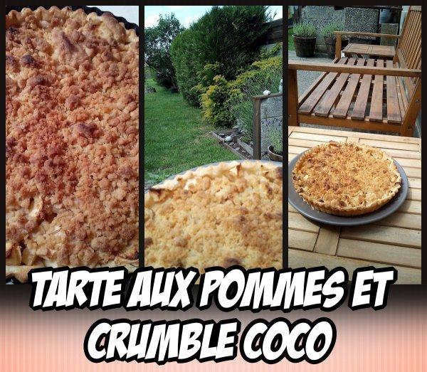 Tarte aux pommes et crumble coco