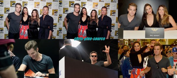 "♠ Le 20 Juillet 2016 : Chris et le Cast ""Star Trek Beyond"" arrive à San Diego"