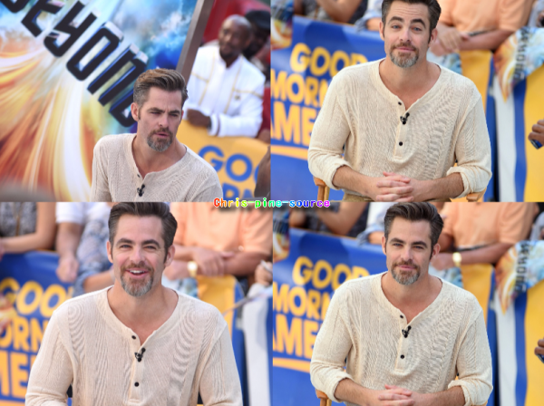 ♠ 19 Juillet 2016 : Chris visite Good Morning America