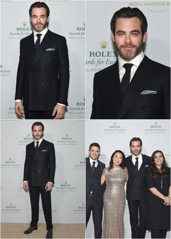 ♠ Le 15 Novembre 2016 : Chris au Rolex Awards For Enterprise