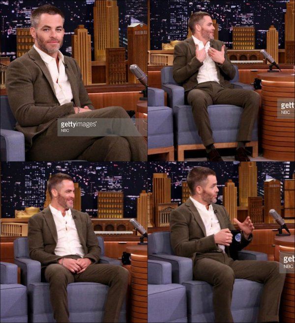 ♠ Chris était dans l'émission The Tonight Show de Jimmy Fallon le 4 Mai