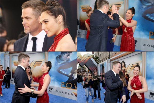 ♠ Chris le 25 Mai à la première de Wonder Woman à Los Angeles