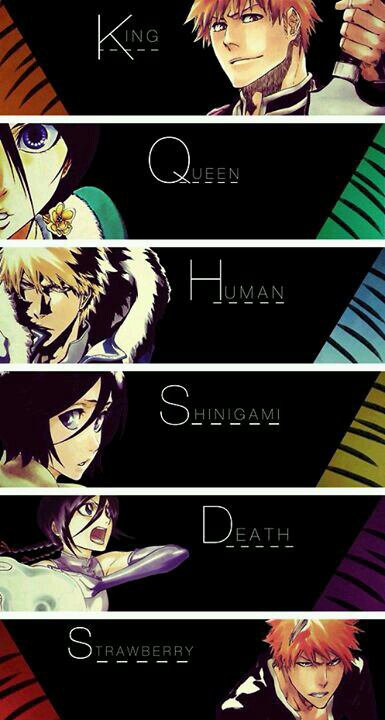 King, Queen, Human, Shinigami, Death, Strawberry