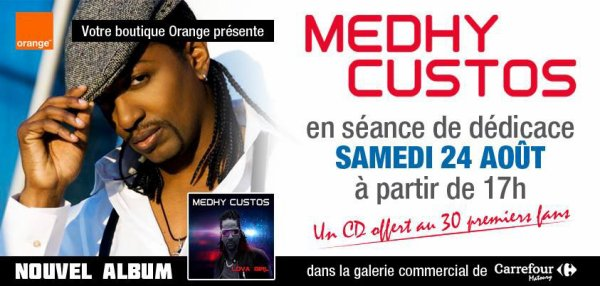 Medhy Custos chez Orange de Carrefour Matoury en Guyane...
