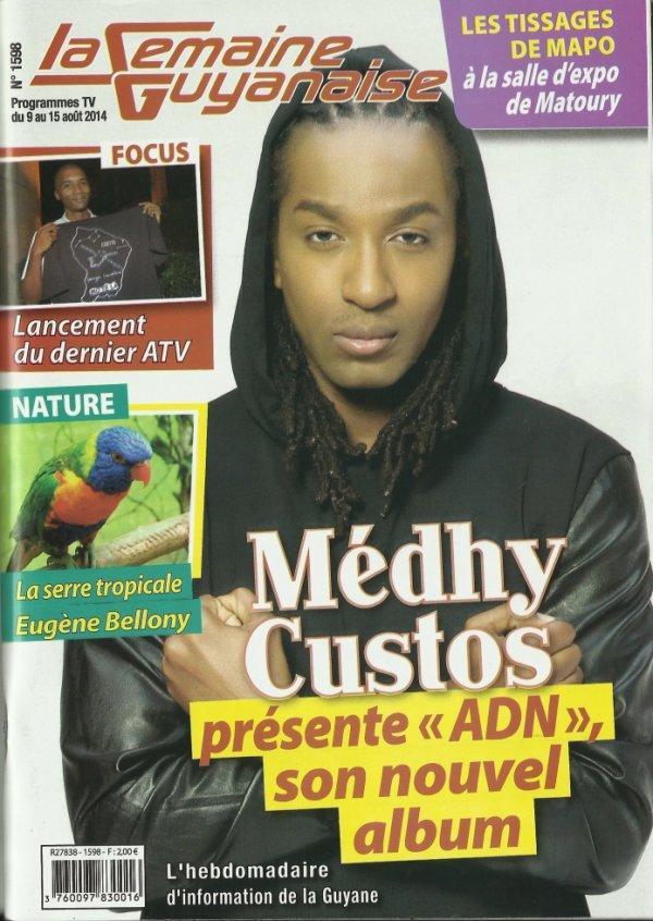 "Medhy Custos / @medhycustosoffi ""Coucou la Medhyaspora mon ADN est en Guyane...Me luv yuh !"""