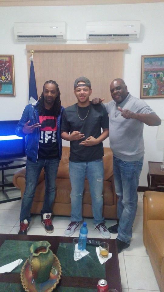 # Medhy Custos # T-micky #francky bien arrivé en Haïti !