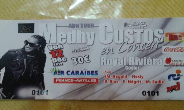 Medhy Custos / @medhycustosoffi en concert en Guadeloupe c'est pour bientôt ! ADN part One !