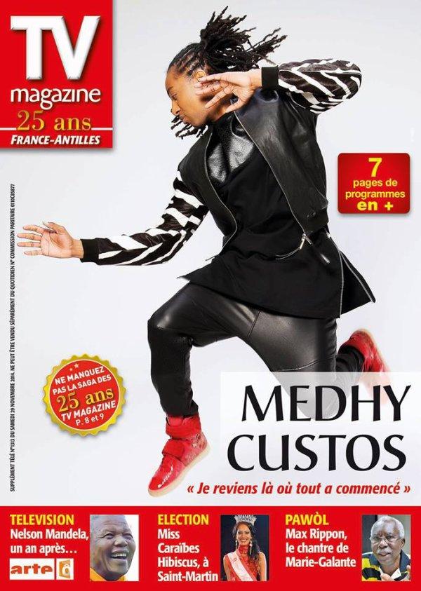 Samedi 29 novembre, dans TV Magazine, Medhy Custos, le serial lover nous parle de son nouvel album, ADN. Cet album riche de collaborations est accompagné d'une tournée en guise de retrouvailles avec son premier public, en Guadeloupe.