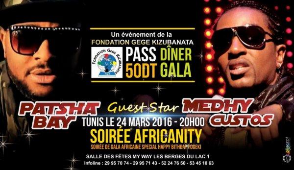 Medhy Custos vous donne rendez vous ce jeudi 24 mars 2016 à Tunis !