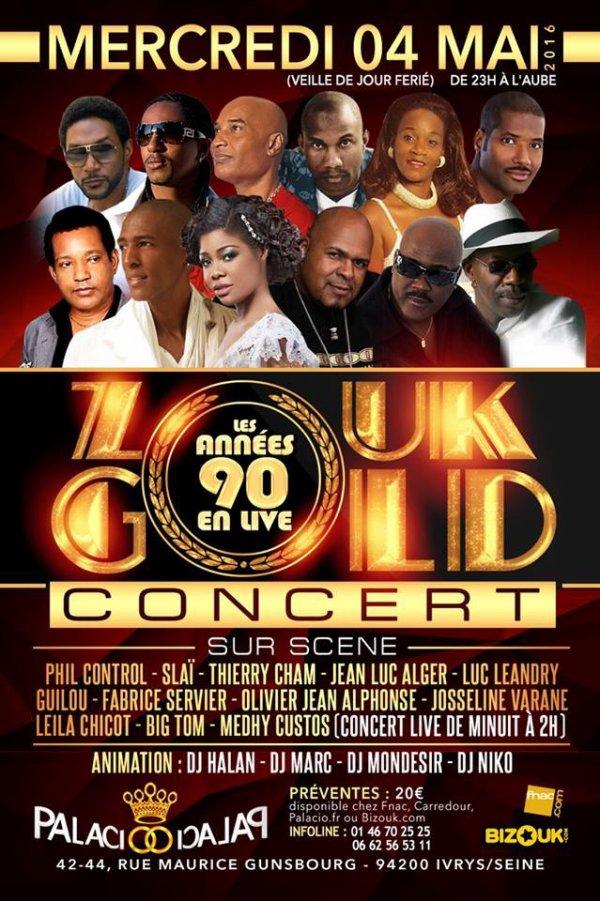 Medhy Custos sera parmi les artistes invités pour le concert Zouk Gold au Palacio de ce mercredi 4 mai 2016 !